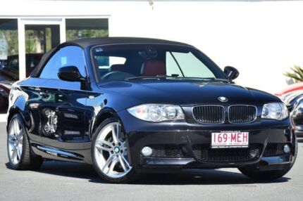 2009 BMW 123d E88 MY10 Steptronic Black 6 Speed Auto Seq Sportshift Convertible Southport Gold Coast City Preview