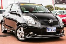 2006 Toyota Yaris NCP91R YRX Black 5 Speed Manual Hatchback Wangara Wanneroo Area Preview