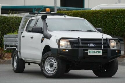 2012 Ford Ranger PX XL Double Cab Cool White 6 Speed Sports Automatic Cab Chassis Acacia Ridge Brisbane South West Preview