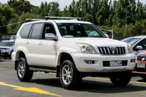 2006 Toyota Landcruiser Prado GRJ120R GXL White 5 Speed Automatic Wagon Ringwood East Maroondah Area Preview