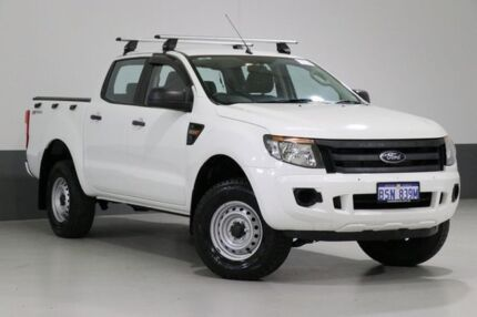 2014 Ford Ranger PX XL 2.2 HI-Rider (4x2) White 6 Speed Manual Crew Cab Pickup Bentley Canning Area Preview
