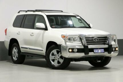2013 Toyota Landcruiser VDJ200R MY13 Sahara (4x4) White 6 Speed Automatic Wagon Bentley Canning Area Preview