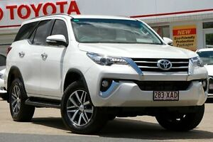 2016 Toyota Fortuner GUN156R Crusade Crystal White Pearl 6 Speed Automatic Wagon Woolloongabba Brisbane South West Preview