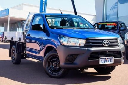 2016 Toyota Hilux TGN121R Workmate 4x2 Nebula Blue 5 Speed Manual Cab Chassis Wangara Wanneroo Area Preview