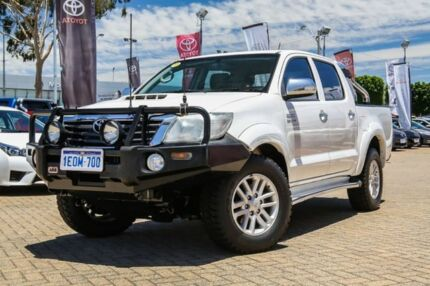 2014 Toyota Hilux KUN26R MY14 SR5 Double Cab White 5 Speed Manual Utility Embleton Bayswater Area Preview