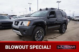 2015 Nissan Xterra 4X4 PRO-4X 6 SPEED Navigation (GPS),  Leather