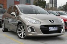 2012 Peugeot 308 T7 MY12 Allure Gold 6 Speed Sports Automatic Hatchback North Melbourne Melbourne City Preview