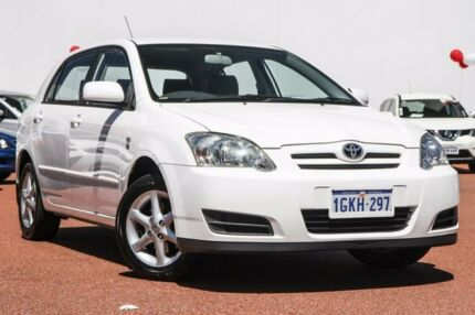 2007 Toyota Corolla ZZE122R 5Y Ascent Sport White 5 Speed Manual Hatchback
