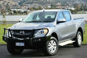 2013 Mazda BT-50 UP0YF1 XTR Silver 6 Speed Manual Utility Derwent Park Glenorchy Area Preview