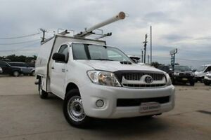 2011 Toyota Hilux KUN16R MY12 SR White 5 Speed Manual Cab Chassis Lansvale Liverpool Area Preview