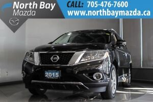 2015 Nissan Pathfinder SL 4WD with Pano Sunroof, Heated Steering