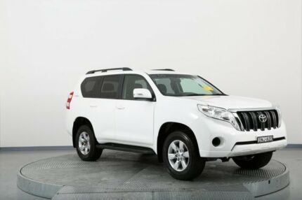2015 Toyota Landcruiser Prado GDJ150R GXL White 6 Speed Sports Automatic Wagon