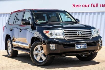 2012 Toyota Landcruiser URJ202R MY12 Sahara Black 6 Speed Sports Automatic Wagon Morley Bayswater Area Preview