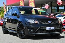 2010 Ford Focus LV XR5 Turbo Panther Black 6 Speed Manual Hatchback Willagee Melville Area Preview