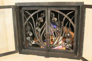 Fireplace railings made to custom order from wrought Iron