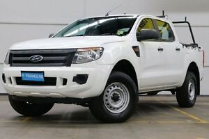 2013 Ford Ranger PX XL Double Cab 4x2 Hi-Rider White 6 Speed Sports Automatic Utility