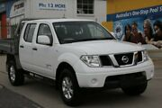2013 Nissan Navara D40 MY13 RX (4x4) White 5 Speed Automatic Dual Cab Chassis Fyshwick South Canberra Preview
