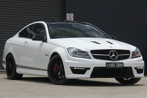 2013 Mercedes-Benz C63 W204 MY14 AMG Edition 507 White 7 Speed Automatic G-Tronic Coupe Petersham Marrickville Area Preview