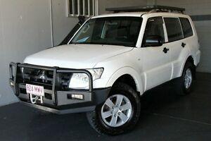2007 Mitsubishi Pajero NS GLX LWB (4x4) White 5 Speed Manual Wagon Woodridge Logan Area Preview