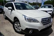 2015 Subaru Outback B6A MY15 2.0D CVT AWD White 7 Speed Constant Variable Wagon Pearce Woden Valley Preview