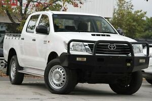 2013 Toyota Hilux KUN26R MY14 SR Double Cab Glacier White 5 Speed Automatic Utility Adelaide CBD Adelaide City Preview