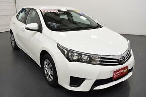 2014 Toyota Corolla ZRE172R Ascent Glacier White 7 Speed CVT Auto Sequential Sedan Moorabbin Kingston Area Preview