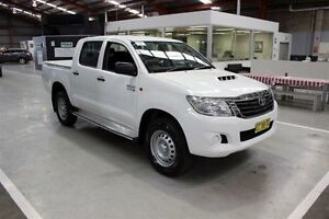 2015 Toyota Hilux KUN26R MY14 SR Double Cab White 5 Speed Automatic Utility Maryville Newcastle Area Preview