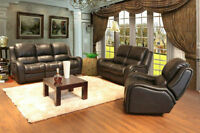 3PC GENUINE LEATHER POWER RECLINER SOFA SET $ 2998