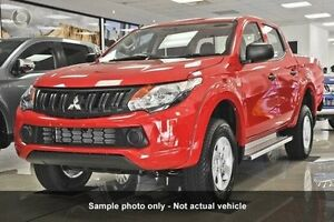 2016 Mitsubishi Triton MQ MY16 GLX+ Double Cab Red 6 Speed Manual Utility Mount Gravatt Brisbane South East Preview