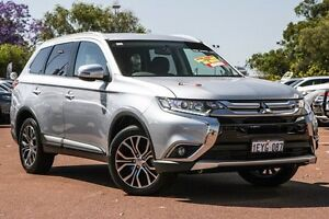 2016 Mitsubishi Outlander ZK MY16 LS 2WD Silver 6 Speed Constant Variable Wagon Cannington Canning Area Preview