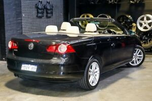 2010 Volkswagen EOS 1F MY11 155TSI DSG Black 6 Speed Sports Automatic Dual Clutch Convertible