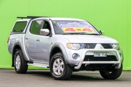 2008 Mitsubishi Triton ML MY08 GLX Double Cab Silver 5 Speed Manual Utility Ringwood East Maroondah Area Preview