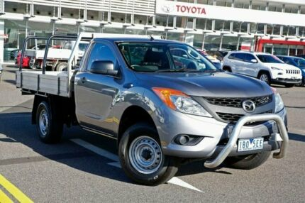 2014 Mazda BT-50 UP0YD1 XT 4x2 Hi-Rider Grey 6 Speed Sports Automatic Cab Chassis Strathmore Moonee Valley Preview