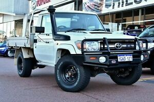 2009 Toyota Landcruiser VDJ79R GXL White 5 Speed Manual Cab Chassis Wangara Wanneroo Area Preview