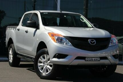2014 Mazda BT-50 UP0YF1 XTR 4x2 Hi-Rider Silver 6 Speed Sports Automatic Utility