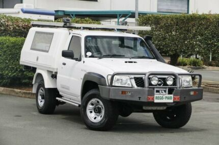 2011 Nissan Patrol GU 6 Series II DX White 5 Speed Manual Cab Chassis