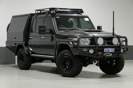 2018 Toyota Landcruiser VDJ79R MY18 GXL (4x4) Graphite 5 Speed Manual Double Cab Chassis Bentley Canning Area Preview
