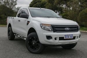 2013 Ford Ranger PX XL 3.2 (4x4) White 6 Speed Manual Super Cab Pick-up Hillman Rockingham Area Preview