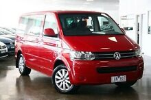 2011 Volkswagen Multivan T5 MY12 Red 7 Speed Sports Automatic Dual Clutch Wagon Frankston Frankston Area Preview