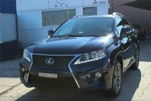2013 Lexus RX350 GGL15R MY12 F-Sport Blue 6 Speed Automatic Wagon Five Dock Canada Bay Area Preview