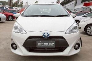2016 Toyota Prius c NHP10R E-CVT White 1 Speed Constant Variable Hatchback Hybrid Baulkham Hills The Hills District Preview