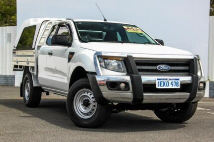 2014 Ford Ranger PX XL Super Cab 4x2 Hi-Rider White 6 Speed Sports Automatic Cab Chassis Maddington Gosnells Area Preview