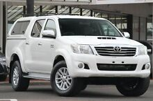 2012 Toyota Hilux KUN26R MY12 SR5 Double Cab Glacier White 4 Speed Automatic Utility Christies Beach Morphett Vale Area Preview
