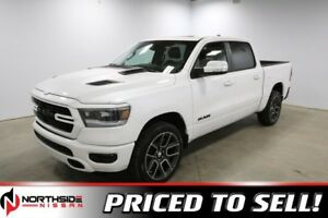 2019 Ram 1500 4WD CREWCAB SPORT Accident Free,  Navigation,  Lea