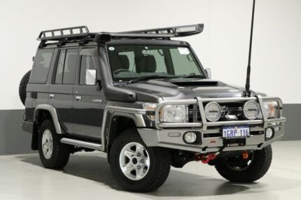 2017 Toyota Landcruiser LC70 VDJ76R MY17 GXL (4x4) Graphite 5 Speed Manual Wagon Bentley Canning Area Preview