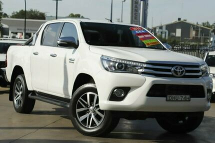 2016 Toyota Hilux GUN126R SR5 Double Cab White 6 Speed Sports Automatic Utility Penrith Penrith Area Preview