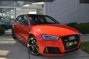2016 Audi RS3 8V MY16 Sportback S tronic quattro Red 7 Speed Sports Automatic Dual Clutch Hatchback Burwood Whitehorse Area Preview