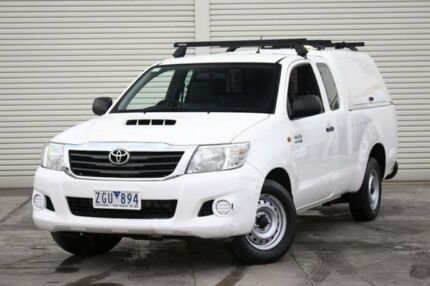 2012 Toyota Hilux KUN16R MY12 SR Xtra Cab White 5 Speed Manual Utility