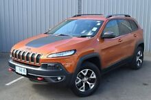 2015 Jeep Cherokee KL MY15 Trailhawk Orange 9 Speed Sports Automatic Wagon Invermay Launceston Area Preview