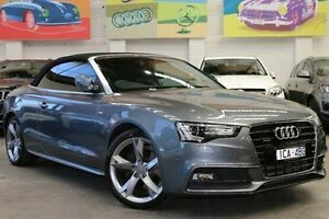 2013 Audi A5 8T MY14 S tronic quattro Grey 7 Speed Sports Automatic Dual Clutch Cabriolet Southbank Melbourne City Preview